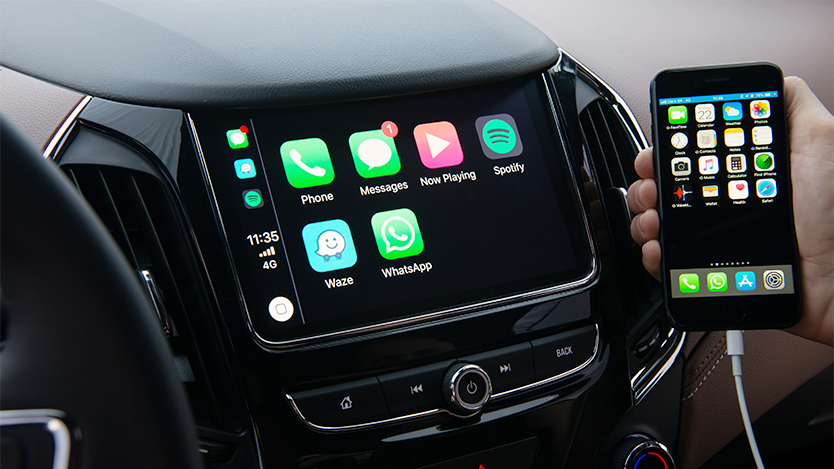 Integração Apple CarPlay do carro com Wi-Fi Cruze Sedan Premier 2020