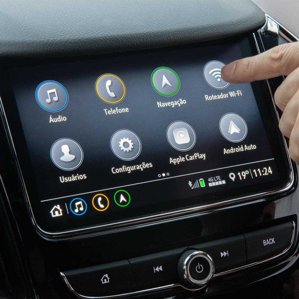 Tecnologia Chevrolet Mylink do novo carro com Wi-fi Cruze Sedan Premier 2020