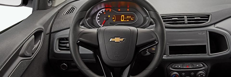 Volante do novo Chevrolet sedan Joy Plus 2020