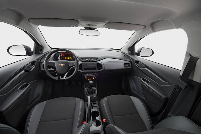Design interno novo Chevrolet hatch Joy 2020