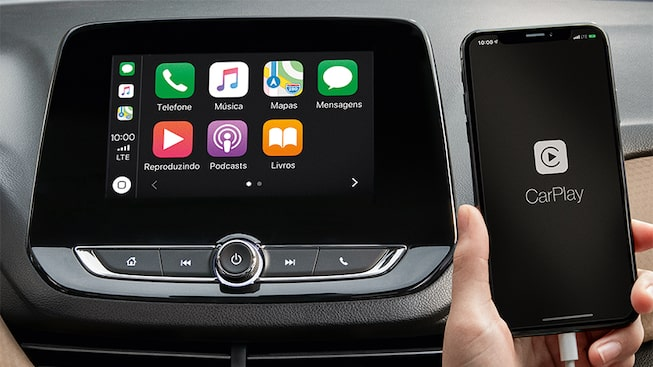 Mylink com conex�o Apple CarPlay do novo Onix Plus 2020