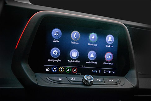 Tela touch screen do Camaro Coupê 2019