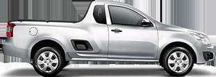 Lateral carro Chevrolet Montana caminhonete