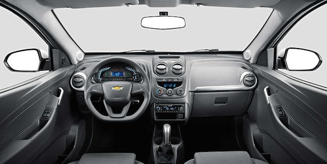 Interior painel de controle Chevrolet Montana 2018