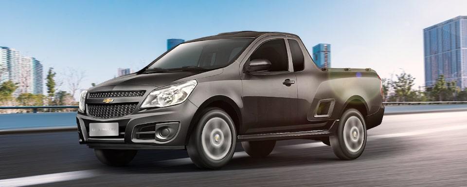 Dianteira da nova Chevrolet Montana caminhonete 2019