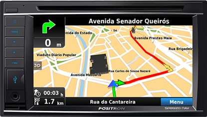 Central Multimídia BT DTV DVD Espelhamento com GPS novo Chevrolet Cobalt sedan 2018