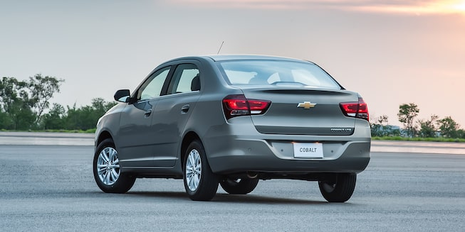 Traseira do novo Chevrolet Cobalt 2018