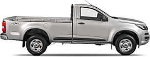 Lateral carro Chevrolet S10 Cabine Simples